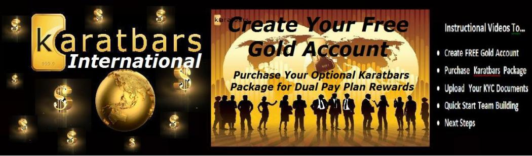 Karatbars International Video Tutorials for Free Gold Account
