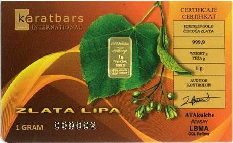 Karatbars Slovenia Country Card