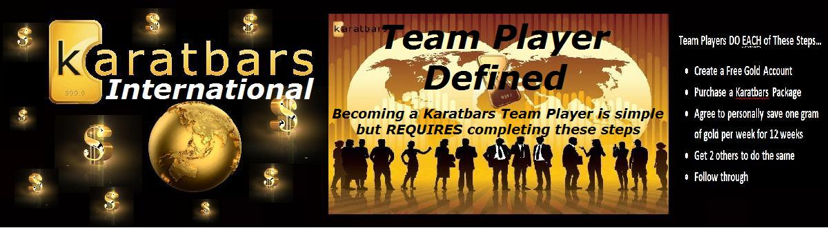 Karatbars Team Player Defined