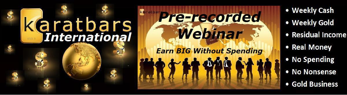 Karatbars International Prerecorded Webinar