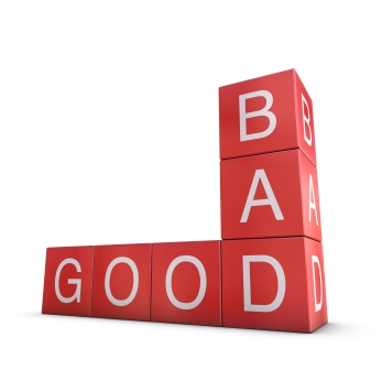 Good and bad are perceptions