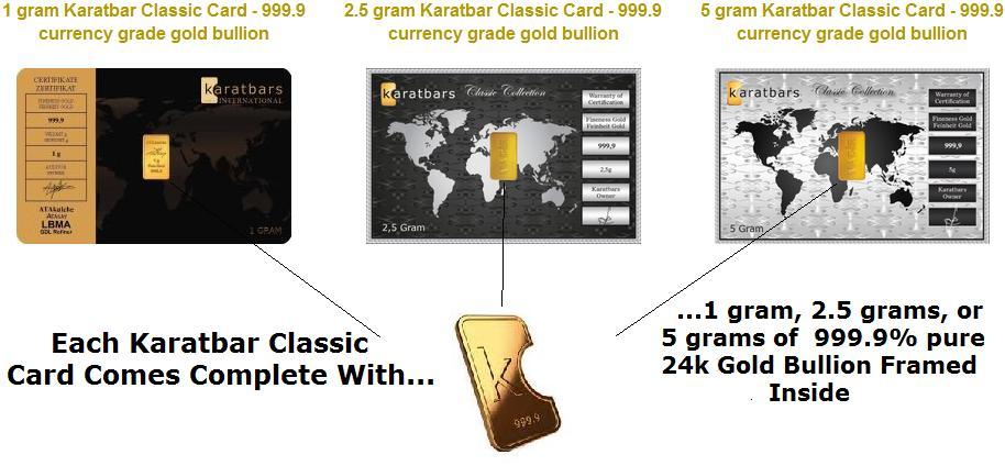 Karatbars Classic Cards